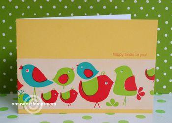 Birdie tape card