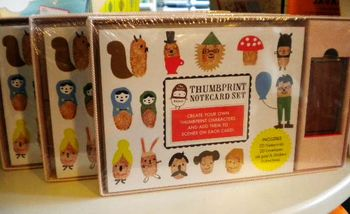 Thumbprint note cards