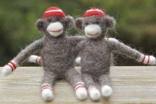 Wool pets sock monkeys
