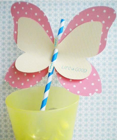Butterfly straw