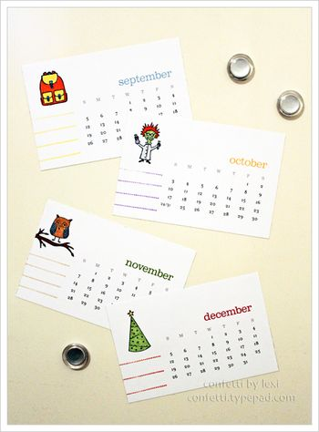 Lexi locker calendar