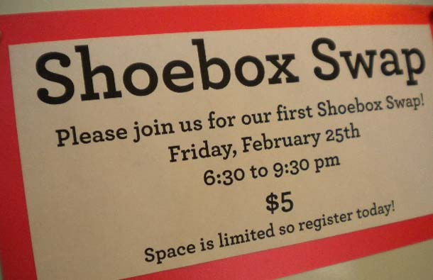 Shoebox swap