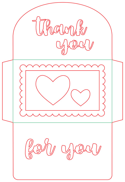A muse studio gift card envelope