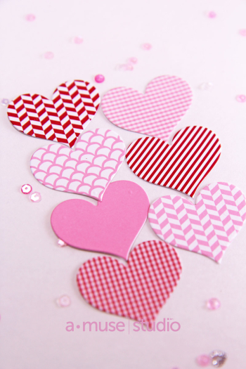 A Muse Studio Feb paper hearts