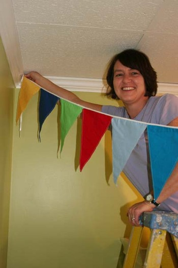 Nina_hanging_flags_6